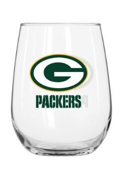 Green Bay Packers 16oz Curved Glass