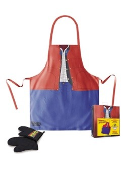 MARTY MCFLY BACK TO THE FUTURE APRON & OVEN MITTS