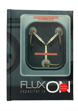FLUX CAPACITOR BACK TO THE FUTURE NOTEBOOK WITH LIGHT