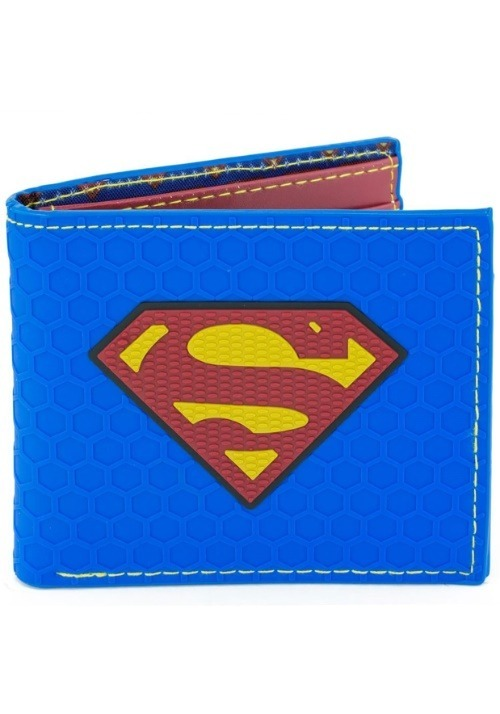 Superman Logo Rubber Wallet