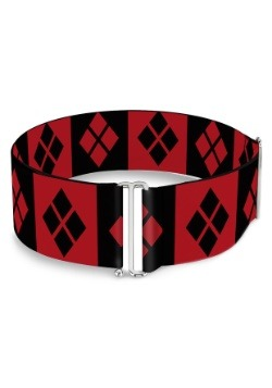 Harley Quinn- Diamonds Red/Black Cinch Waist Belt