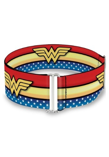 Wonder Woman Logo Star & Stripes Cinch Waist Belt