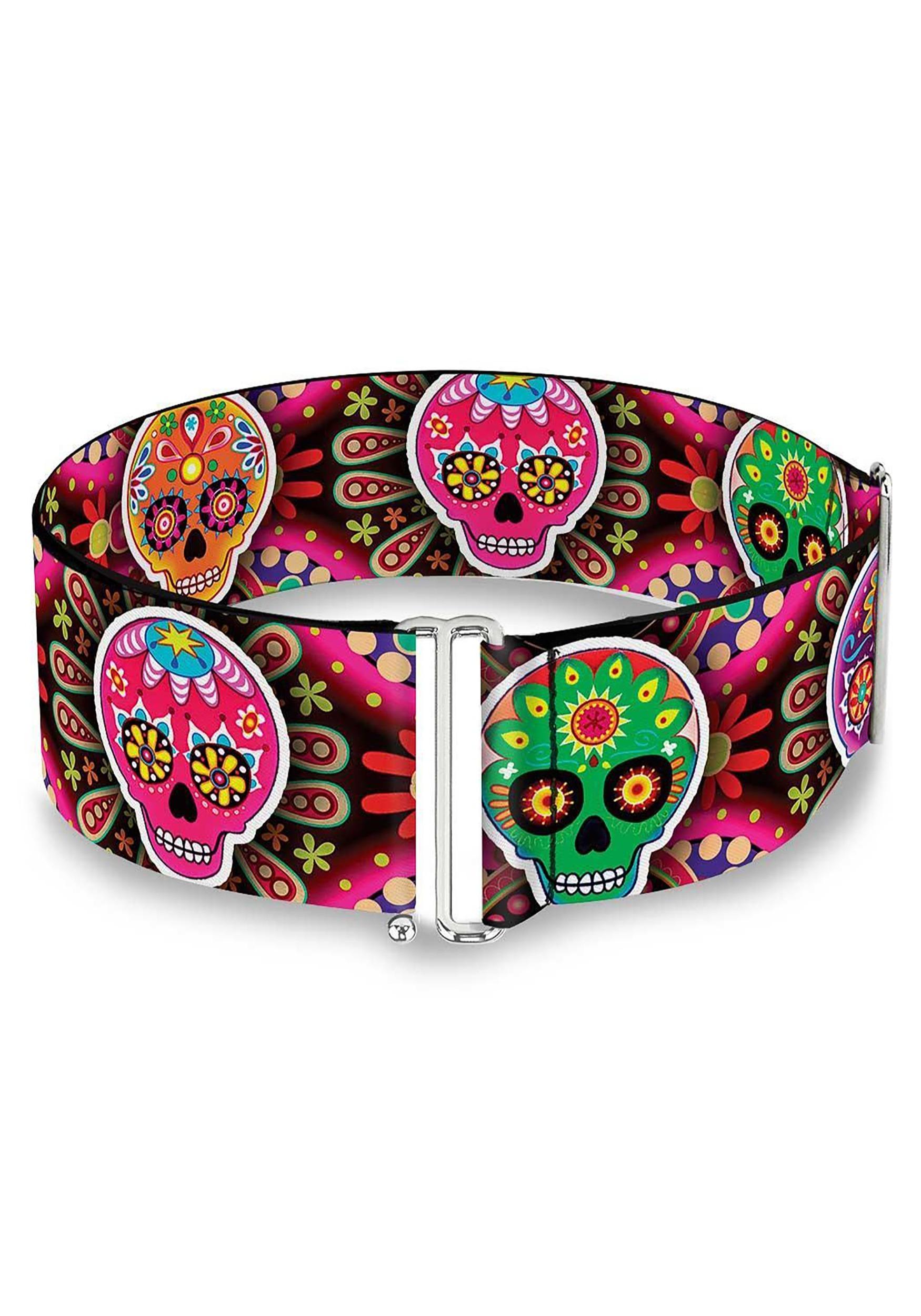 Multi_Color_Sugar_Skulls_Cinch_Waist_Belt