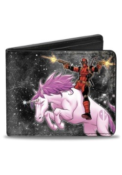 Deadpool Riding Unicorn Bi-Fold Wallet- Marvel