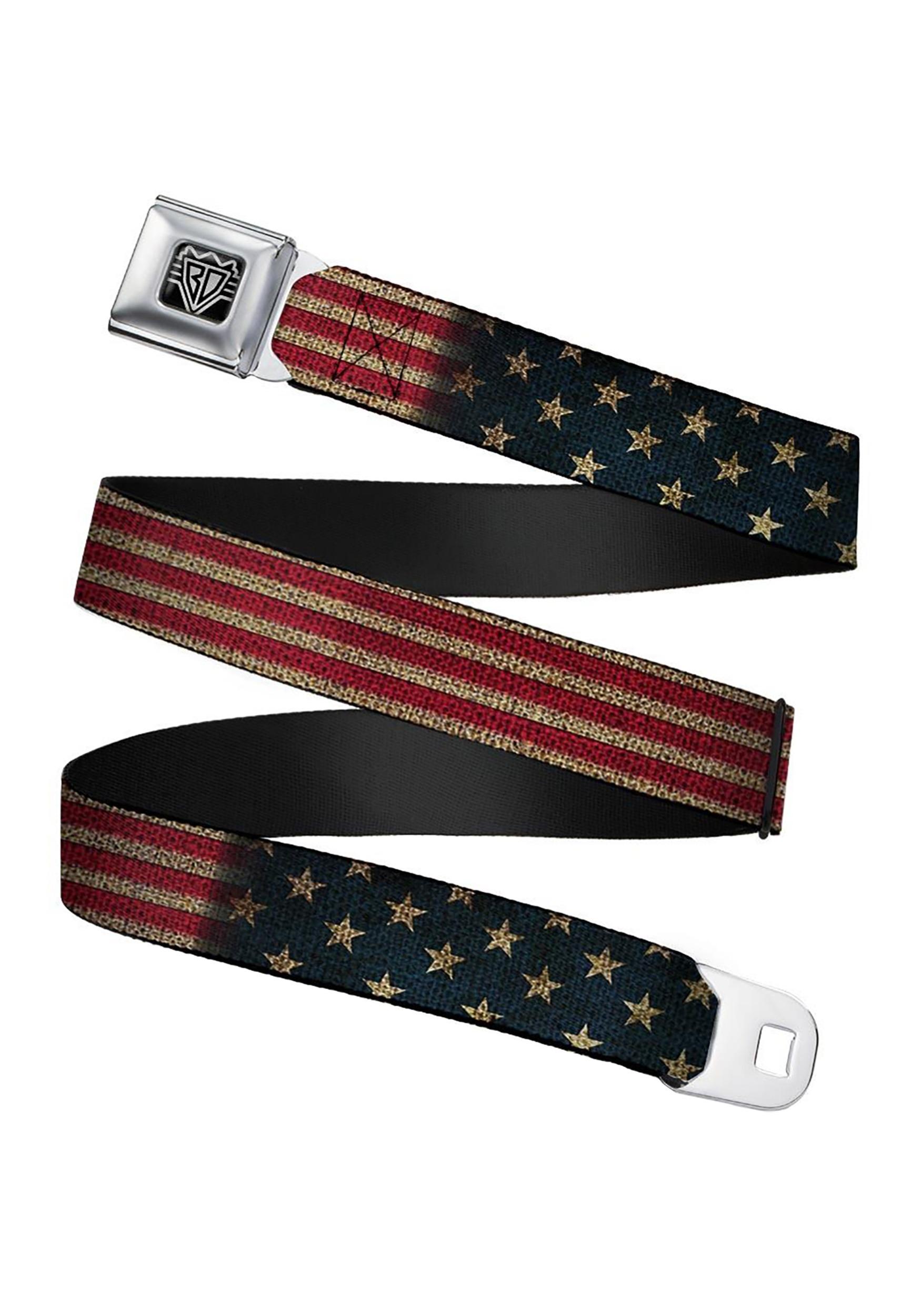 Seatbelt_Buckle_Belt_Featuring_Vintage_USA_Flag