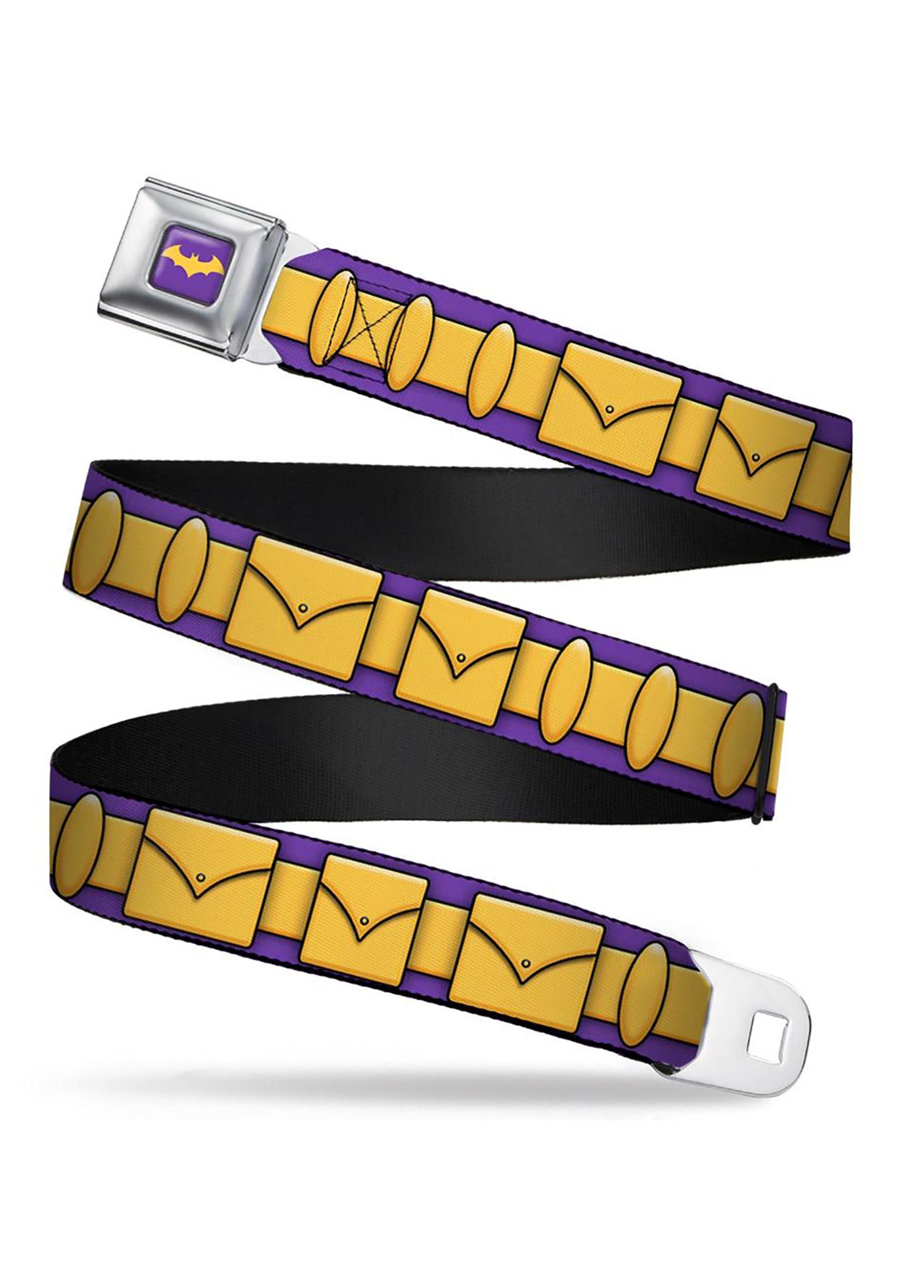 PurpleGold_Batgirl_Utility_Belt_Seatbelt_Buckle_Belt