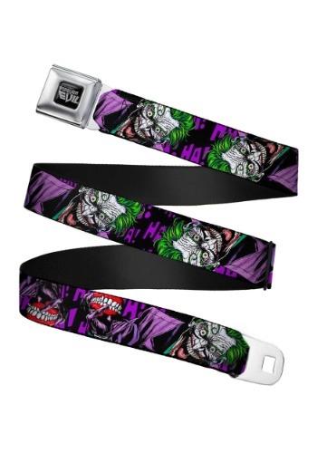 DC Comics Laughing Joker Seatbelt Buckle Belt