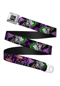 DC Comics Laughing Joker Seatbelt Buckle Belt