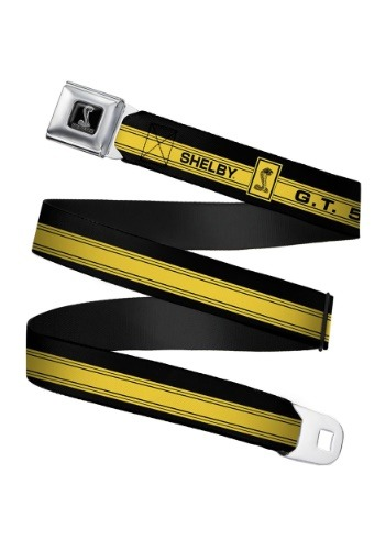 GT 500 Shelby Cobra Yellow Seatbelt Buckle Belt