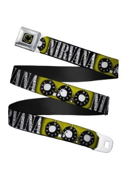 Nirvana Smiley Face Guitar Knobs Seatbelt Buckle Belt