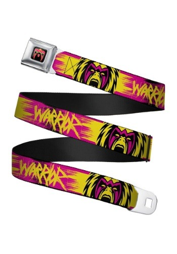 WWE Ultimate Warrior Faces Seatbelt Buckle Belt