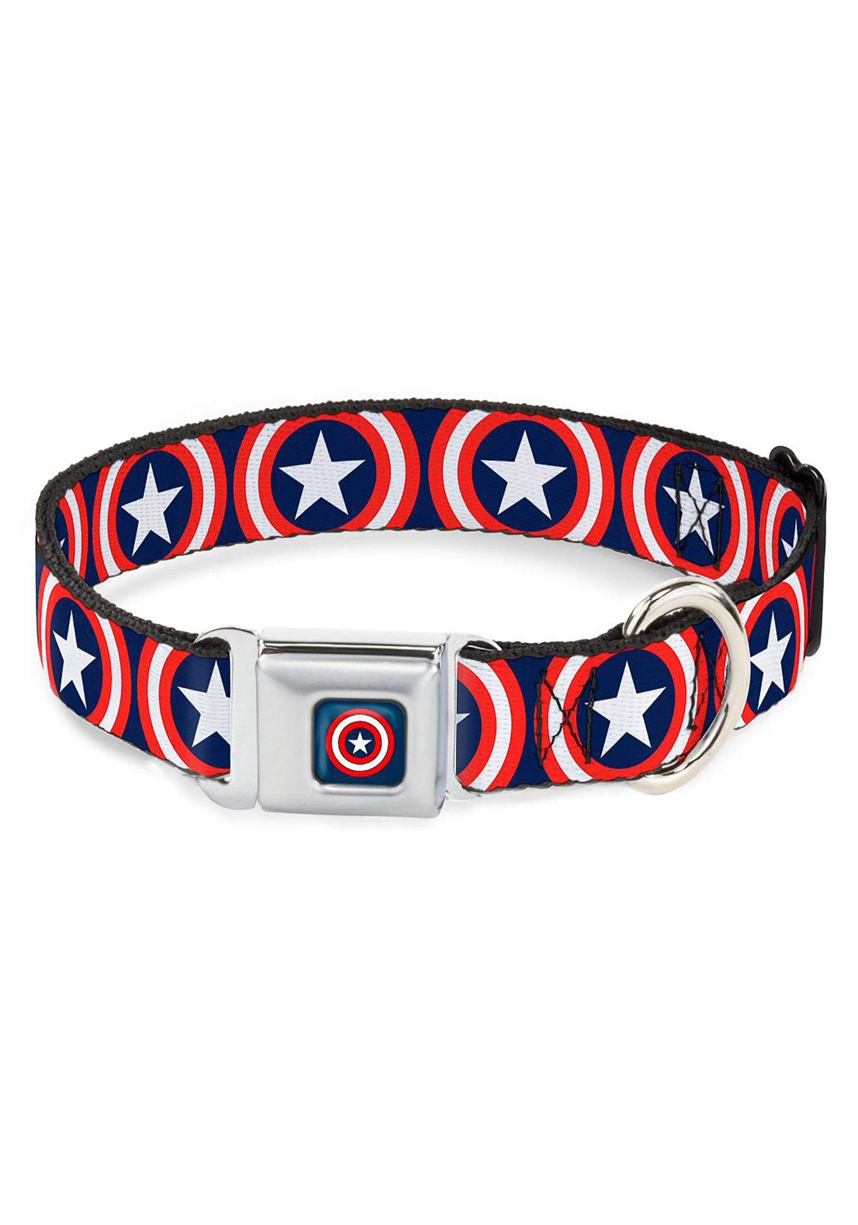 Captain_America_Shield_Logo_Seatbelt_Buckle_Dog_Collar_1_Wide