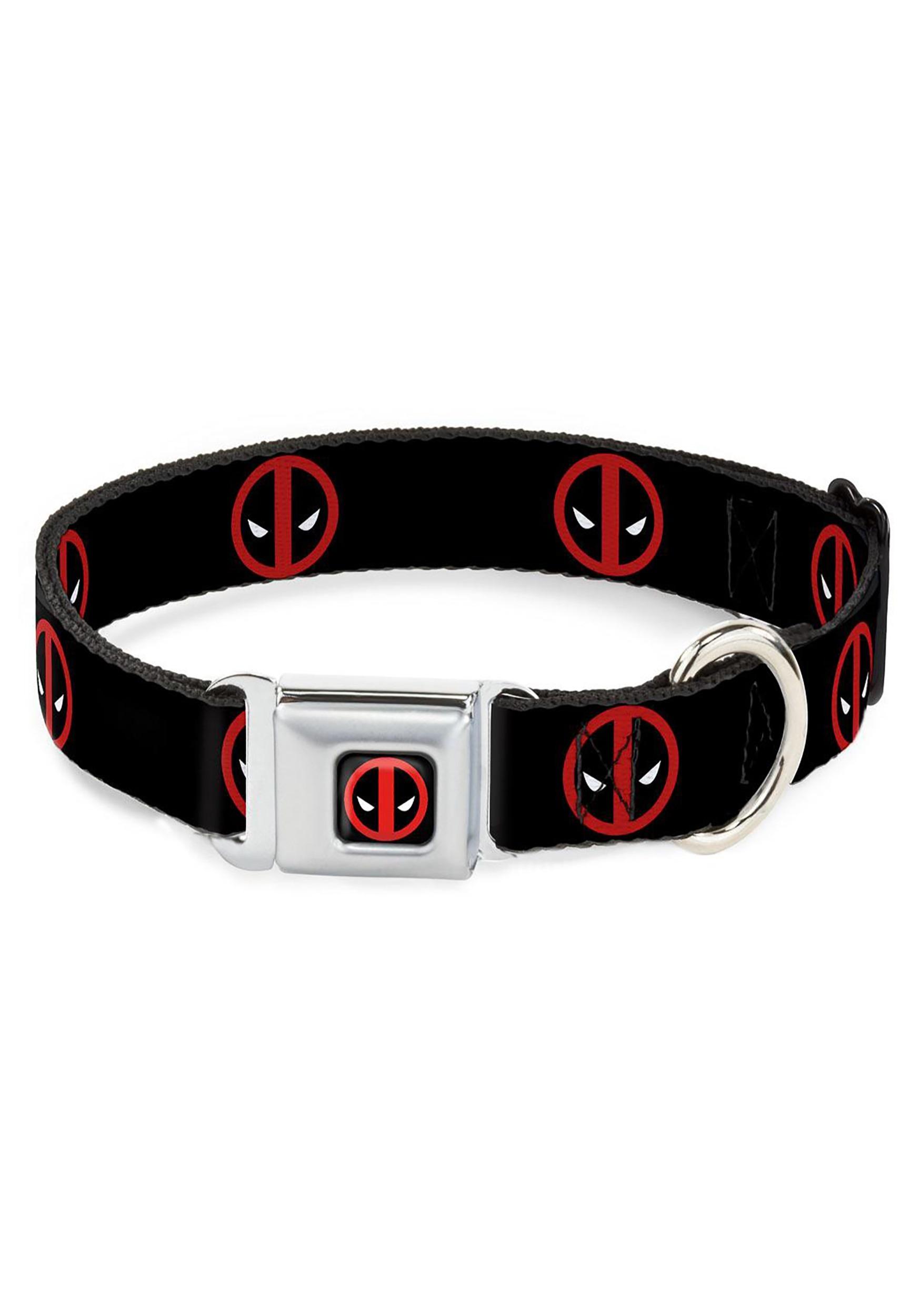 Marvel_Logo_Deadpool_Black_Seatbelt_Buckle_Dog_Collar_1_Wide