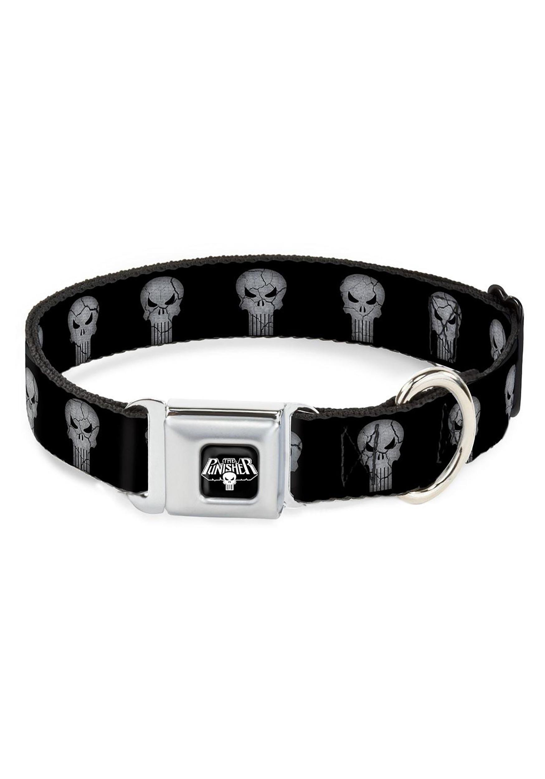Marvel_The_Punisher_Logo_Black_Seatbelt_Buckle_Dog_Collar_1_Wide