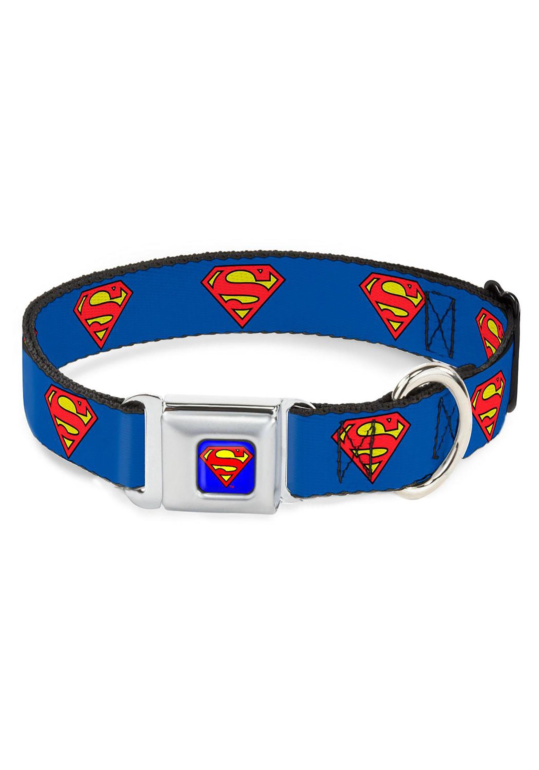 Superman_Shield_Logo__Seatbelt_Buckle_Dog_Collar_1_Wide