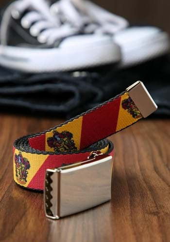 Harry Potter Gryffindor Crest Chrome Buckle Web Belt update