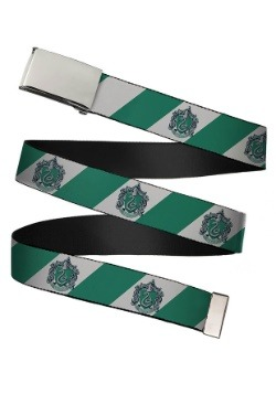 Harry Potter Slytherin Crest Chrome Buckle Web Belt update 1