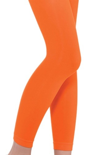 Adult Orange Footless Tights