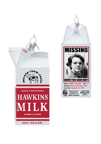 Stranger Things Milk Carton Glass Ornament