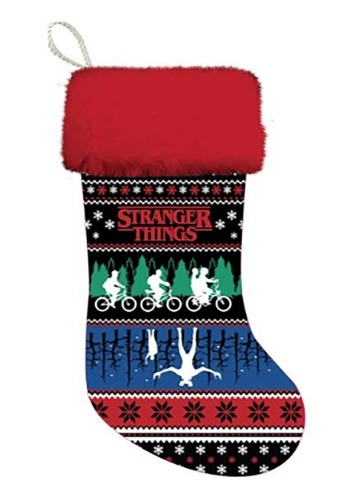 "Stranger Things 19"" Ugly Sweater Design Stocking"