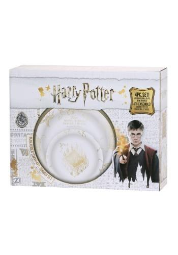 Harry Potter 4pc Marauder's Map Dinnerware Set