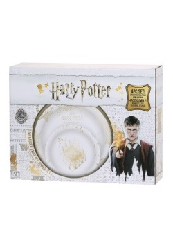 Harry Potter 4pc Marauder's Map Dinnerware Set