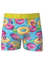Crazy Boxers Mens Summer Pool Floats Boxer Briefs