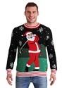 Tipsy Elves Mens Golfing Santa Ugly Christmas Sweater