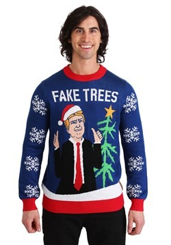 Tipsy Elves Mens Trump Fake Trees Ugly Christmas Sweater