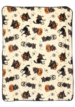 Sourpuss Black Cats Fleece Blanket