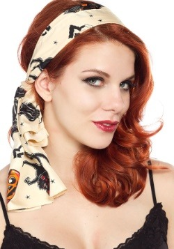 Sourpuss Clothing Bad Girl Black Cats Scarf-alt1