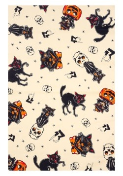 Sourpuss Clothing Bad Girl Black Cats Scarf-alt2