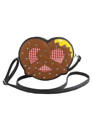 Pretzel With Mustard Crossbody Bag