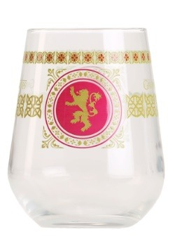 Lannister Square Logo 15 oz Stemless Wine Glass