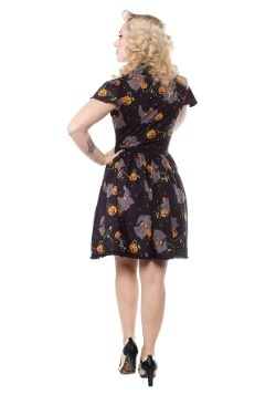 Sourpuss Feline Spooky Halloween Lydia Dress alt1