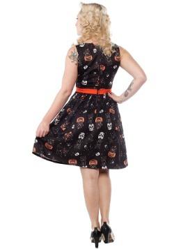Sourpuss Clothing Black Cats Halloween Shift Dress-alt1