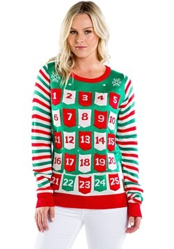Women's Tipsy Elves Advent Calendar Ugly Christmas Sweater