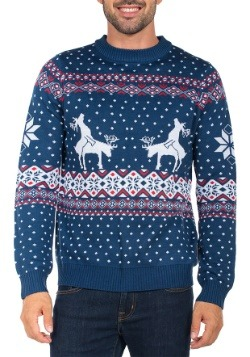 Tipsy Elves Mens Reindeer Climax Ugly Christmas Sweater