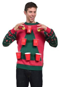Men's Tipsy Elves Beer Pong Ugly Christmas Sweater