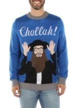 Tipsy Elves Mens Challah Hanukkah Ugly Sweater