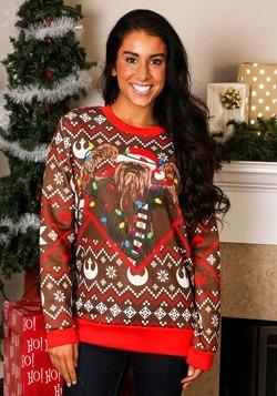 Star Wars Chewbacca Lights Ugly Christmas Sweater Alt 1