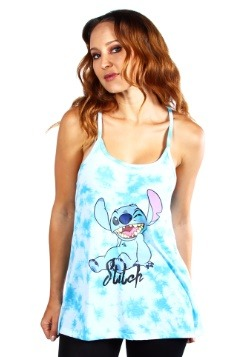 Womens Disney Stitch Blue/White Fashion Tank Top