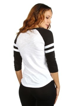 Womens AC/DC Fashion Black/White Raglan Shirt Back