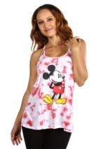 Womens Mickey Mouse White/Red Fashion Tank