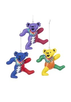 "Grateful Dead 3"" Bear 3pc Ornament Set"