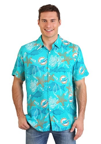 Miami Dolphins Mens Floral Shirt