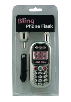 Bling Bling Cell Phone Flask 3 oz