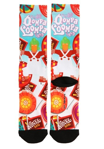 Willy Wonka Oompa Loompa Adult Socks