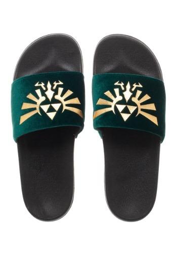 Adult Nintendo Sandals- Zelda Foil Velvet Slide