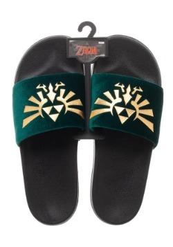 Adult Nintendo Sandals- Zelda Foil Velvet Slide 1